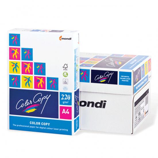 Бумага Mondi Color Copy  А4, 220г/кв.м., 250л, белизна CIE 160%, цвет белый 00-00012640