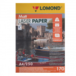Бумага Lomond Ultra CLC Paper  А4, 170г/кв.м., 250л, белизна CIE 91%, матовая, двусторонняя, цвет белый 0300241