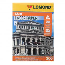 Бумага Lomond Ultra CLC Paper  А4, 200г/кв.м., 250л, белизна CIE 91%, матовая, двусторонняя, цвет белый 0300341