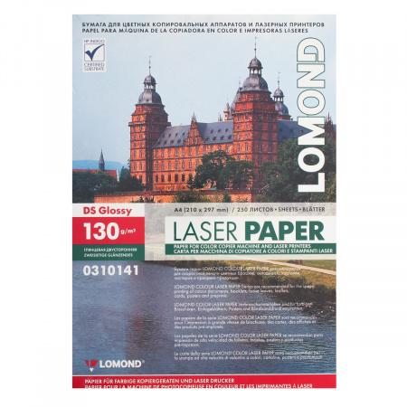 Бумага Lomond А4 Glossy DS CLC Paper, глянцевая двустор 130г/м 250л. 0310141