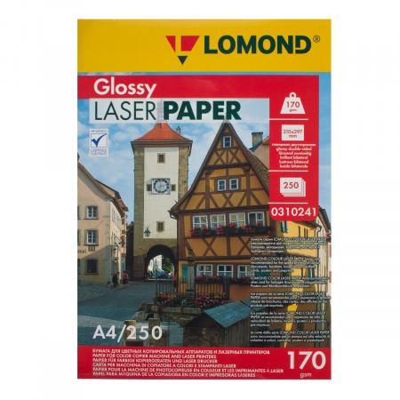 Бумага Lomond А4 Glossy DS CLC Paper, глянцевая двустор 170г/м 250л. 0310241
