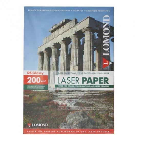 Бумага Lomond Glossy DS CLC Paper  А4, 200г/кв.м., 250л, белизна CIE 91%, глянцевая, двусторонняя, цвет белый 0310341