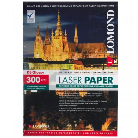 Бумага Lomond Glossy DS CLC Paper  А4, 300г/кв.м., 150, белизна CIE 91%, глянцевая, двусторонняя, цвет белый 0310743