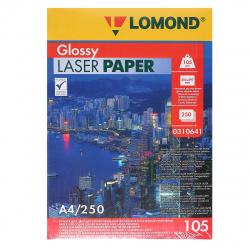 Бумага Lomond Glossy DS CLC Paper  А4, 105г/кв.м., 250л, белизна CIE 91%, глянцевая, двусторонняя, цвет белый 0310641