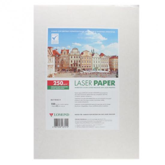 Бумага Lomond Glossy DS CLC Paper  А3, 250г/кв.м., 150, белизна CIE 91%, глянцевая, двусторонняя, цвет белый 0310431