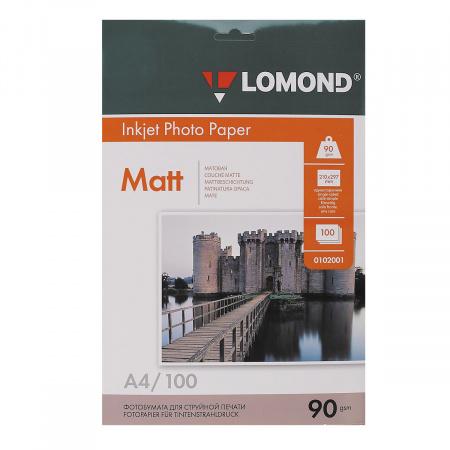 Фотобумага Lomond Ink Jet 090/A4/100 мат.одн. 0102001