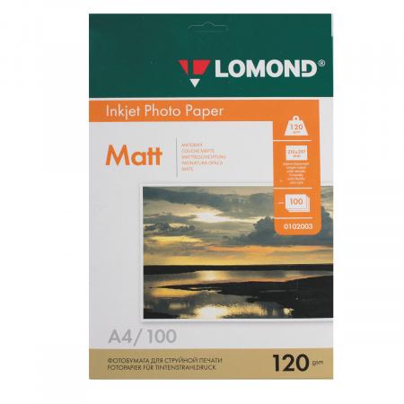 Фотобумага Lomond Ink Jet 120/A4/100 мат.одн. 0102003