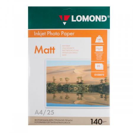Фотобумага Lomond Ink Jet 140/A4/25 мат.одн.0102073
