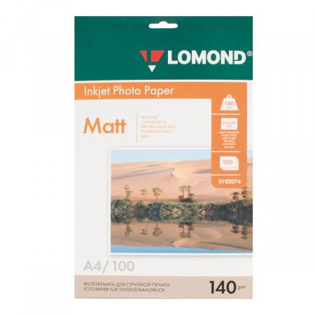 Фотобумага Lomond Ink Jet 140/A4/100 мат.одн. 0102074