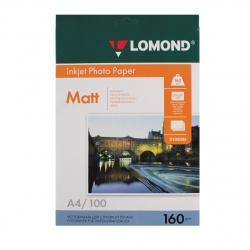 Фотобумага Lomond Ink Jet 160/A4/100 мат.одн. 0102005