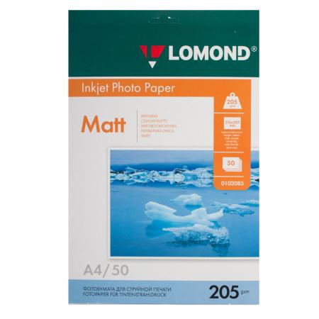 Фотобумага Lomond Ink Jet 205/A4/50 мат.одн. 0102085