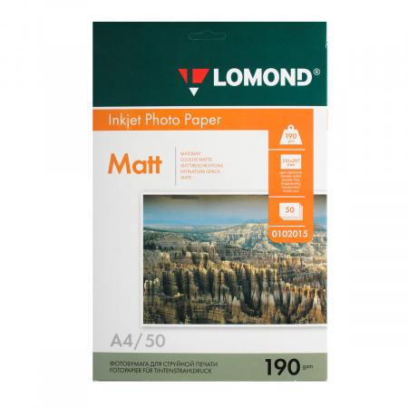 Фотобумага Lomond Ink Jet 190/A4/50 мат.двух. 0102015