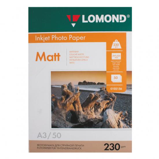 Фотобумага Lomond Ink Jet А3, 230г/кв.м., 50л, матовая 0102156