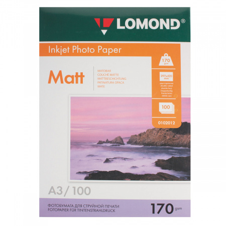 Фотобумага Lomond Ink Jet 170/A3/100 мат.двух. 0102012