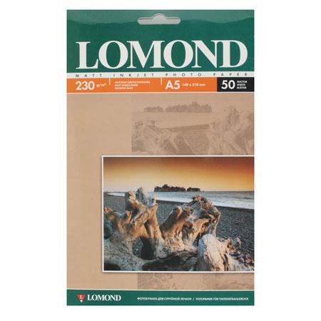 Фотобумага Lomond 230/А5/21*14,8/50 мат.одн. 0102069