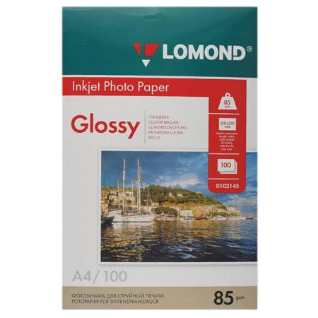 Фотобумага Lomond Ink Jet 85/A4/100 глянц. одн. 0102145