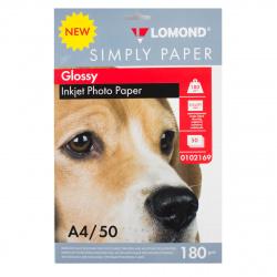 Фотобумага Lomond Ink Jet 180/A4/50 глянц. одн. эконом. 0102169