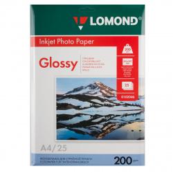 Фотобумага Lomond Ink Jet 200/A4/25 глянц. одн. 0102046