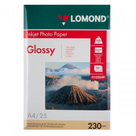 Фотобумага Lomond Ink Jet А4, 230г/кв.м., 25л, глянцевая 0102049