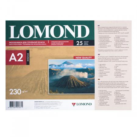 Фотобумага Lomond Ink Jet 230/A2/25 глянц.одн. 0102141