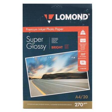 Фотобумага Lomond Super Glossy 270/A4/20 одн. 1106100