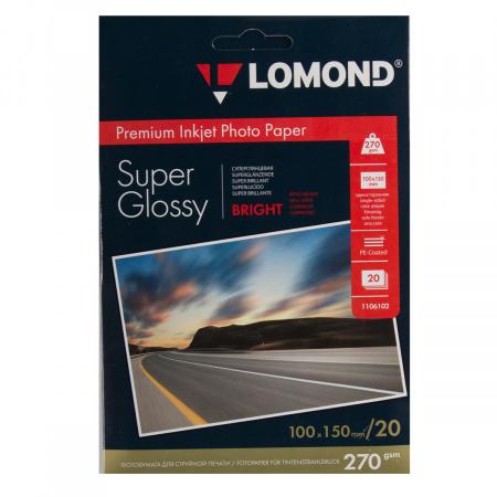 Фотобумага Lomond Super Glossy Bright 270/10*15/20 одн. 1106102