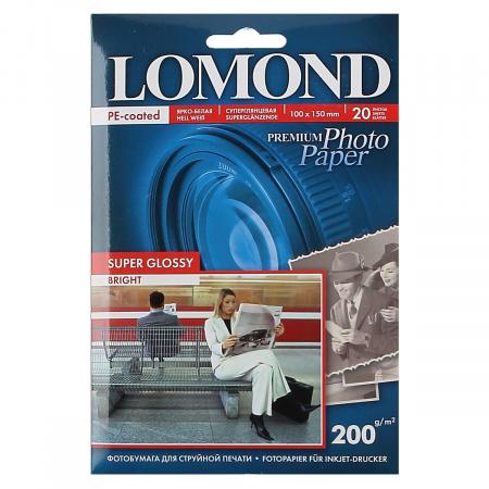 Фотобумага Lomond Super Glossy 200/10*15/20 одн. 1101113