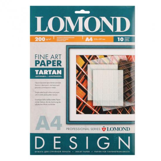 Фотобумага Lomond А4, 200г/кв.м, 10л, матовая, шотландка 0921041