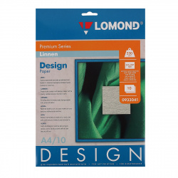 Фотобумага дизайн премиум ЛЕН 230/А4/10 мат.одност. Lomond 0933041