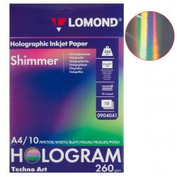Фотобумага художественная Holographic Shimmer для стр.печ. одност. микропор 260/A4/10 Lomond 0904041