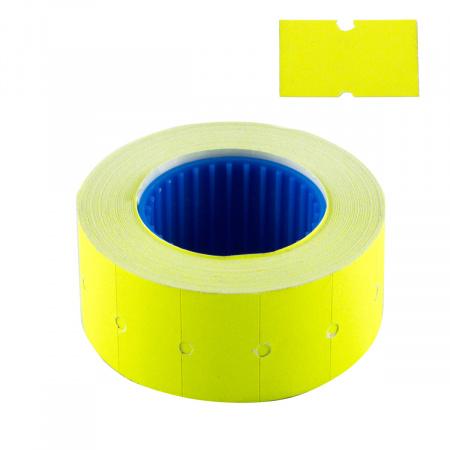 Этикет-лента 21*12 600шт желтая прямоугольная deVENTE 2061713