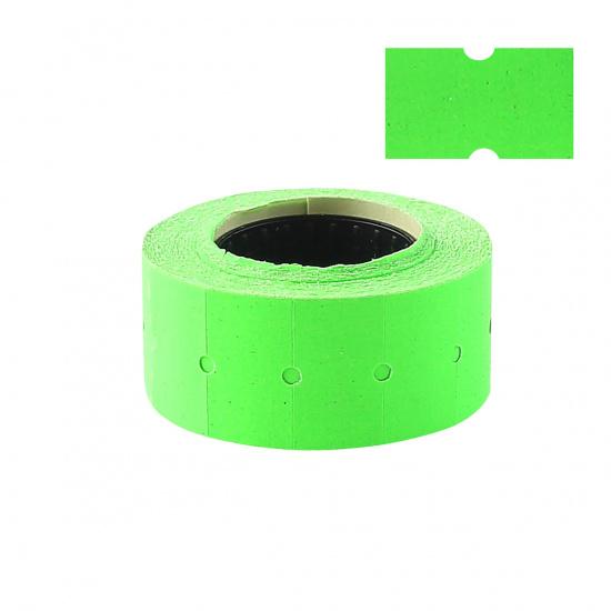 Этикет-лента 21*12мм, форма прямоугольная, 700шт, цвет зеленый Флекс-н-Ролл