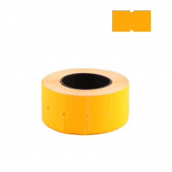 Этикет-лента 21*12 700шт оранжевая прямоугольная