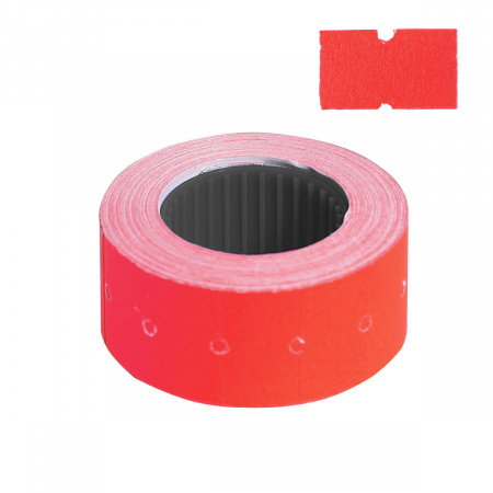 Этикет-лента 21*12 700шт красная прямоугольная