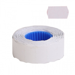 Этикет-лента 22*12 750шт белая волна