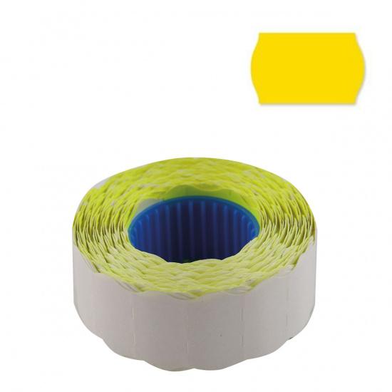 Этикет-лента 22*12мм, форма волна, 800шт, цвет желтый deVENTE 2061702