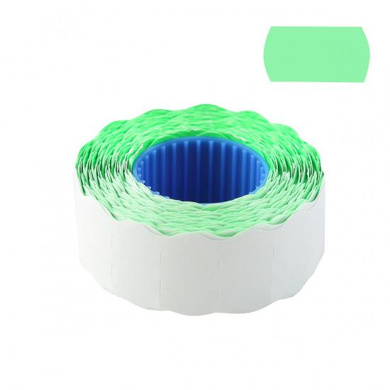 Этикет-лента 22*12мм, форма волна, 800шт, цвет зеленый deVENTE 2061703