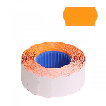 Этикет-лента 22*12мм, форма волна, 800шт, цвет оранжевый deVENTE 2061704