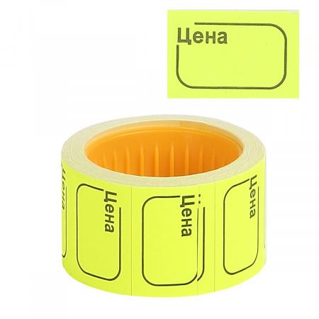 Ценник 30*20мм, форма прямоугольная, 200шт, цвет желтый deVENTE 2061511