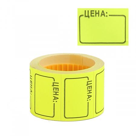 Ценник 35*25мм, форма прямоугольная, 200шт, цвет желтый deVENTE 2061506