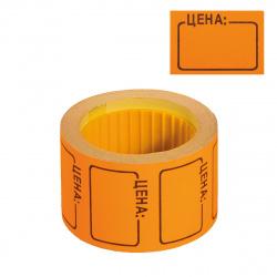 Ценник средний 35*25 200шт оранжевый deVENTE 2061509
