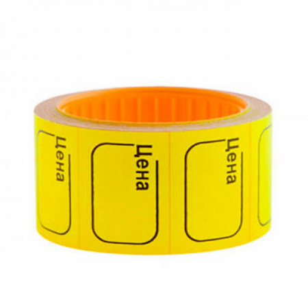Ценник 38*25мм, форма прямоугольная, 150шт, цвет желтый Ligamarket НФ-00002308