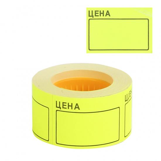 Ценник 50*35мм, форма прямоугольная, 200шт, цвет желтый deVENTE 2061501