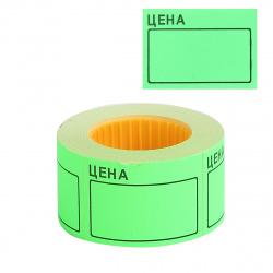 Ценник 50*35мм, форма прямоугольная, 200шт, цвет зеленый deVENTE 2061502
