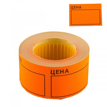 Ценник 50*35мм, форма прямоугольная, 200шт, цвет оранжевый deVENTE 2061504