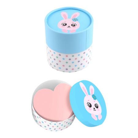 Блок для записей 70*70мм, фигурный, не склеенный, пастель, салатовый, подставка картонная, 700л Cute Rabbit deVENTE 2013003