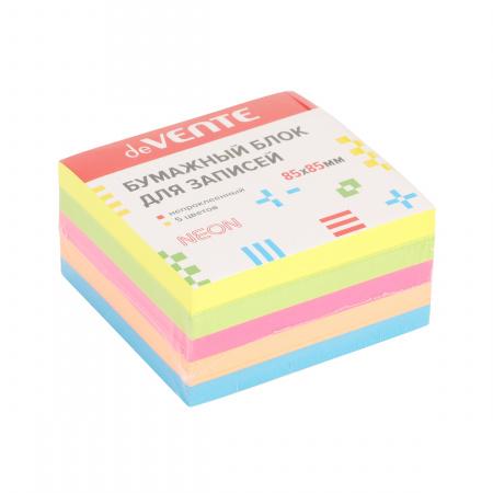 Блок для записей 8,5*8,5*5 куб офсет 80г/м2 5 цветов неон 500л deVENTE 2012702