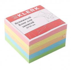 Блок для записей 8*8*5 куб 5 цветов KLERK 183605