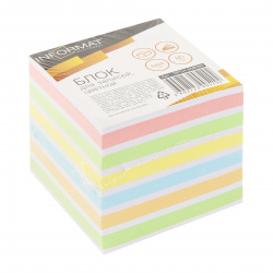 Блок для записей 8*8*8 куб 6 цветов склеенный inФОРМАТ NPG4-808080