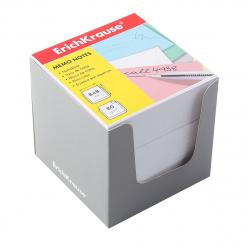 Блок для записей 8*8*8 куб белый в серой картонной подставке Erich Krause 36985